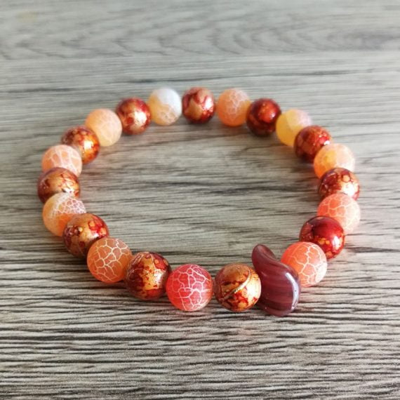 Náramok z minerálu dračí oranžový achát