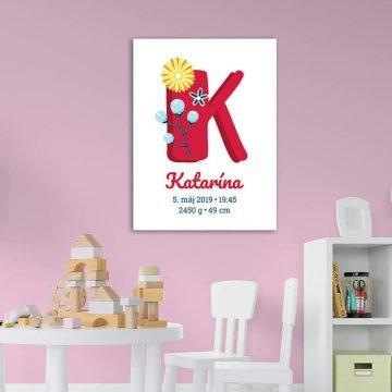 Darček pre bábätko, obraz do detskej izby, obraz o narodení