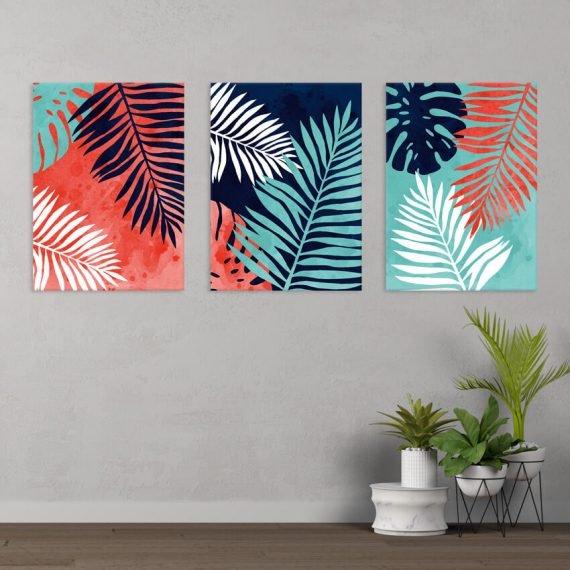 Obraz na stenu Tropické listy, 3-dielny