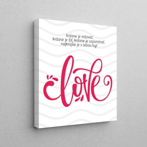 Motivačný obraz na stenu Love