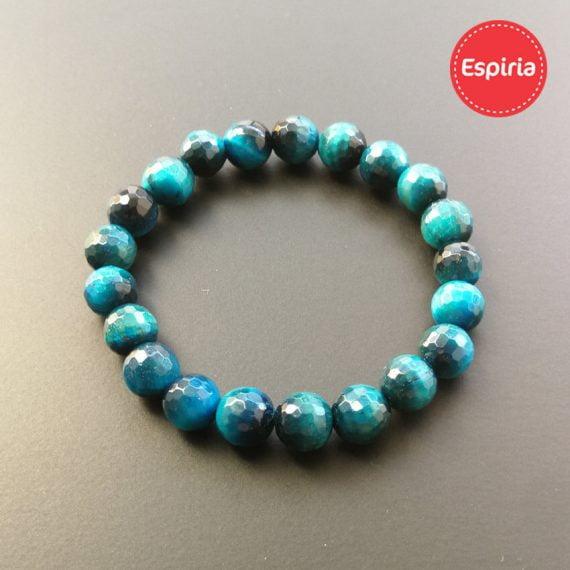 Náramok z minerálov Tigrie oko Sky blue (modrý)
