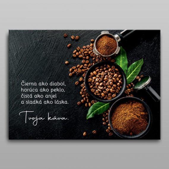 Obraz káva - motivačný obraz na plátne