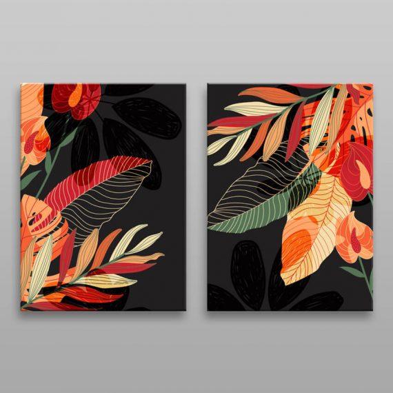 Moderné obrazy tropické listy