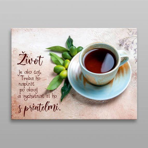 Motivačný obraz čaj. Obraz na plátne.
